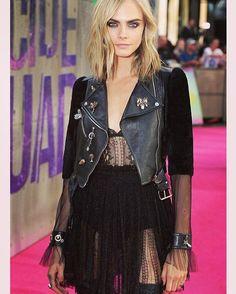 Glam Grunge done right. #inspo #glamgrunge #black #allblackeverything #ootd #caradelevingne #blacklace #grungegirl #fashioninspo #fashioninspiration #itgirl