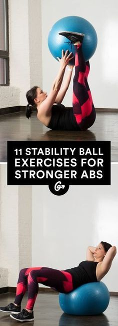 Abs, meet your new BFFs. #stabilityball #abs #exercises http://greatist.com/move/abs-workout-best-stability-ball-moves-for-your-core
