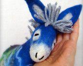 felt donkey named Blue Fillipe -- sold to a wonderful home