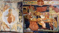 Frescoes from the Haigia Sophia of Trebizond, including one depicting the marriage feast at Cana.