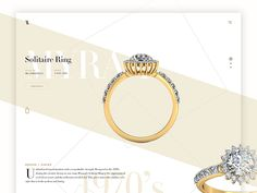 So if you are looking for web design inspiration for your fashion website, here are 30 Brilliant Fashion Web Design Concepts that represent variety of styles to inspire you. Fashion Web Design, Concept Web, Jewellery Sketches, Web Design Inspiration, Solitaire Ring, Fashion Sketches, Ring Designs, Gold Watch, Gemstone Rings
