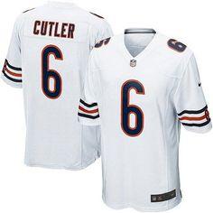 bears 6 jay cutler nike game jersey away white