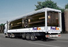Funny advertising on trucks, #guerilla #marketing #creative #print #billboard #ambient