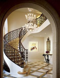 Luxurious And Elegant Stair Hall Design Inspirations