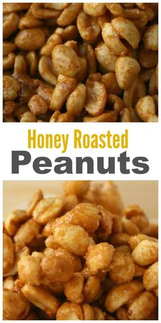 These Honey Roasted Peanuts are so easy to make and they taste incredible. With Peanuts being so inexpensive and just packed full of protein they're a. Peanut Snacks, Peanut Recipes, Honey Recipes, Snack Recipes, Dessert Recipes, Cooking Recipes, Raw Peanuts, Sweet Peanuts, Roast Peanuts Recipe