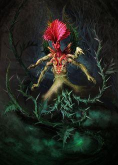 Thistle creature by KardisArt.deviantart.com on @DeviantArt