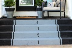 Painting concrete steps Front steps off concrete slab Painted Concrete Steps, Concrete Front Steps, Cement Steps, Concrete Porch, Concrete Stairs, Painted Stairs, Concrete Slab, Painted Floors, Porch Steps
