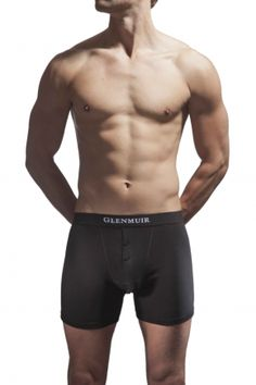 Glenmuir Button Fly Plain Boxer Shorts £10.99