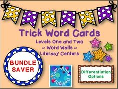 Find me on Pinterest!  Cez~Anne DesignsSAVE over 15% with the Bundle Saver!This Quick Prep BUNDLE SAVER product includes over 170 trick words inclusive of Level 1 and Level 2 words associated with the Wilsons Fundations program.  However, you will notice overlap with words on the Dolch Lists and the Fry word lists.