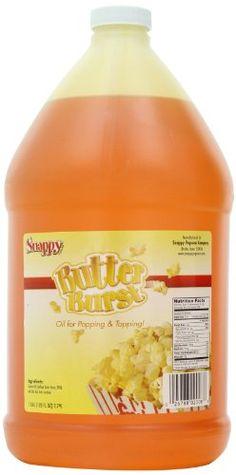 Snappy Popcorn Butter Burst Oil , 1 gallon( 128 fl oz ) Snappy Popcorn http://www.amazon.com/dp/B00AXK9ROC/ref=cm_sw_r_pi_dp_zl60ub12RR6YE