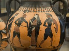 Menelaus and Helen. Attic black-figured amphora B Made in Athens Attributed to the Painter of the Vatican Mourner (or Painter of Vatican 350) About 530 BC From Vulci, Etruria Rome, Vatican Museums, Museo Gregoriano Etrusco