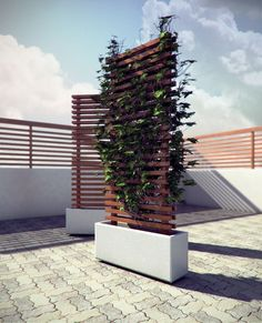 "Hey everyone. I'm reluctantly posting this image. I'd like to get crits, but have not secured the IP for the design and would like to eventually be involved in producing these on a large scale. I designed and built a few prototypes of these modular mobile vine walls last summer. The concept is essentially a mobile concrete planter with a 6' wooden trellis for assisting vertical growth. The unit is 36"" wide by 11"" deep by 6' tall. There are 4 360 degree castors inset in the base so they ar..."