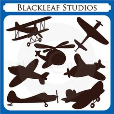 Flying High Airplane Silhouettes - aeroplane, aircraft, planes, baby kiddy planes, silhouette, logo, outline, Personal and Commercial Use