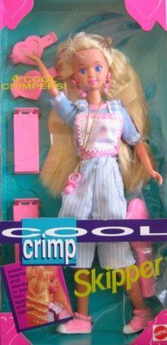 Barbie Cool Crimp SKIPPER Doll (1993) by Mattel, http://www.amazon.com/dp/B000S2KM2G/ref=cm_sw_r_pi_dp_XqEZrb04P9KZC