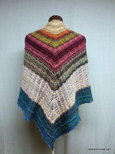 Unchained Shawl FREE Crochet Pattern Easy Skill Level Designed by Jessie Rayot. Chain stitch + single crochet (3/3) (hva)