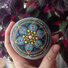 Kaleidoscope mandala stone by HFXrocks!