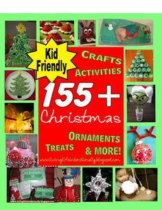 WOW! 155+ Christmas Ideas to do with my kiddos! There are tons of crafts, activities, ornaments to make, treats, and learning activities.  My one-stop pin for the season!