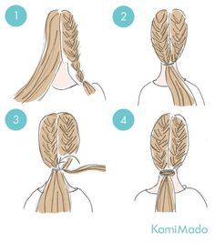 Pin on coiffure Sweet Hairstyles, Cute Simple Hairstyles, Bandana Hairstyles, Creative Hairstyles, Elegant Hairstyles, Braided Hairstyles, Headband Curls, Natural Hair Styles, Long Hair Styles