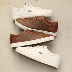 Sneakers have already been an element of the world of fashion for longer than you might think. Present day fashion sneakers carry little similarity to their earlier forerunners but their popularity continues to be undiminished. Lacoste Shoes Mens, Lacoste Sneakers, Sneaker Shop, Sneakers N Stuff, Men's Sneakers, Sneakers Sale, Sneakers Design, Sneakers Fashion, Fashion Shoes