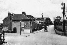 A view of Talke crossroads looking towards Butt Lane in the early 1900's