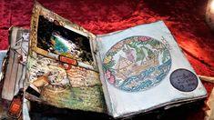 σελίδα για πειραγμένο βιβλίο, μίξη και αντιστοίχιση, κολάζ και χρωματισμός Altered Books, Journal, Artwork, Work Of Art, Auguste Rodin Artwork, Book Art, Artworks, Illustrators