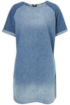 Topshop Denim T Shirt Dress