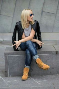 Ideas how to wear timberland boots for girl 2