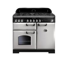 Buy RANGEMASTER Classic Deluxe 100 Dual Fuel Range Cooker - Royal Pearl & Chrome | Free Delivery | Currys