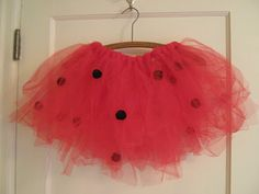 No-Sew Tutu + Ladybug Dress Up Accessories