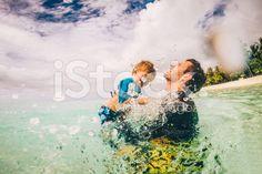 Fun in the sea royalty-free stock photo