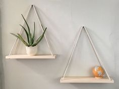 Solid Maple Hanging Shelves, Handmade- Set of Cotton Rope, Planters - Wood an. : Solid Maple Hanging Shelves, Handmade- Set of Cotton Rope, Planters – Wood an… – Handmade Home Decor, Cheap Home Decor, Diy Home Decor, Cheap Wall Decor, Diy Wall Decor, Art Decor, Diy Hanging Shelves, Hanging Planters, Storage Shelves