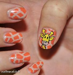 summer nails girafe Funny summer nail designs