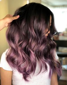 The 3 Hair Color Trends That Are Already A Hit In 2019 Hair Color purple hair color Lilac Hair, Hair Color Purple, Hair Color For Black Hair, Lavender Hair, Cool Hair Color, Gray Color, Gray Hair, Color Shades, Purple Brown Hair