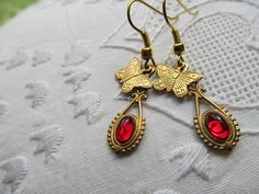 Red and Gold by Eileen on Etsy