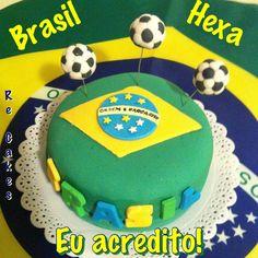 Bolo Brasil Hexa  Copa do Mundo 2014