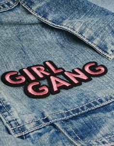 Image 3 of Skinnydip Girl Gang Iron On Patch