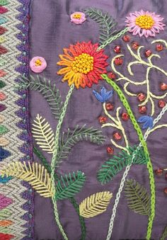 The Beauty of Japanese Embroidery - Embroidery Patterns Folk Embroidery, Japanese Embroidery, Hand Embroidery Stitches, Vintage Embroidery, Hand Quilting, Ribbon Embroidery, Floral Embroidery, Embroidery Patterns, Crazy Quilt Stitches