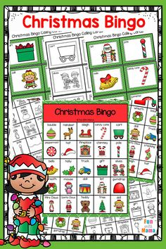 * This Christmas themed Bingo game set is perfect for classroom use with 30 Bingo game boards with calling cards. There is a color copy as well as a black and white copy of the bingo game boards and calling cards. Christmas Bingo Game, Preschool Christmas, Christmas Activities, Educational Activities For Toddlers, Preschool Games, Preschool Kindergarten, Christmas Colors, Christmas Decorations, Christmas Ornaments