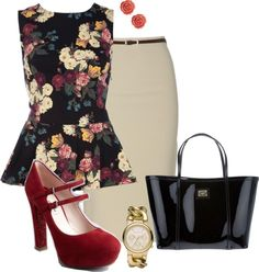"""""""Floral Persuasion #2"""" by statementbydnl ❤ liked on Polyvore"""