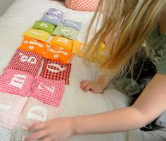 Alphabet Rainbow Bean Bags | Inspired by FamiliaInspired by Familia