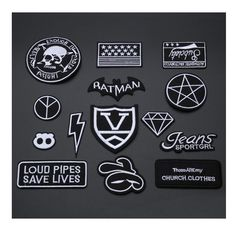 1PC Patches For Clothing Embroidery Black White Badge Ratman/Diamond/Peace/Lightning Patches For Apparel Bags DIY Accessories $1.99   #styles #cool #pretty #dress #fashion #style #model #instalike #instafashion #streetstyle #iwant #swag #sweet #stylish #fashionista