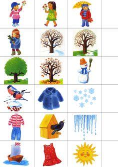 Картинки: времена года для дошкольников Seasons Activities, Spring Activities, Learning Activities, Kids Learning, Activities For Kids, Winter Crafts For Kids, Winter Kids, Flashcards For Kids, Preschool Weather