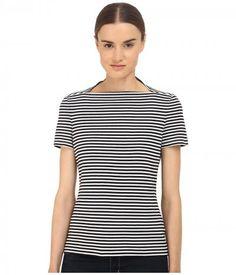 Kate Spade New York - Stripe Everyday Tee (Black) Women's T Shirt