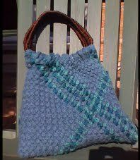 Free Knitting Pattern - Bags, Purses & Totes: Woven Tote Bag
