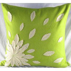 Design Accents LLC Felt Applique Flower Pillow