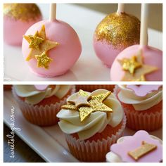 #mulpix Pink velvet cake pops and pink lemonade mini cupcakes to coordinate with…