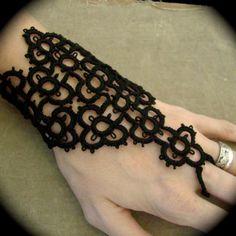 Tatted Slave Bracelet - The Bracelet of Ambrosius. $30.00, via Etsy.