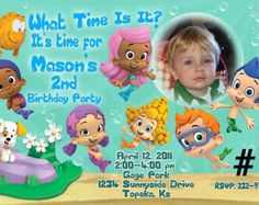 Bubble Guppies Invitation with Photo Bubble by BogdanDesign