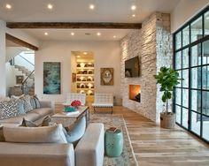 Modernes wohnzimmer landhausstil rustikal beige sofa set decken
