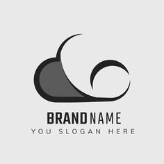 Cloud editable slogan psd icon design | premium image by rawpixel.com / Kappy Kappy Logo Cloud, White Brand, Business Logo, Vector Icons, Brand Identity, Slogan, Icon Design, Brand Names, Clouds